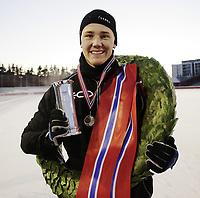 Skøyter<br /> NM sprint Valle Hovin<br /> 04.01.09<br /> Norgesmester og Kongepokal - vinner Christoffer Rukke <br /> Foto - Kasper Wikestad