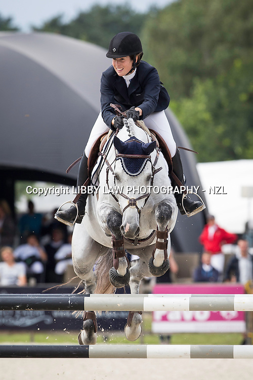 NZL-Amy Collinson (CAPELLO G) CSI1* TABLE A AGAINST THE CLOCK WITH JUMP OFF (135cm) 2014 BEL-Bonheiden CSI1*/CSI3* (Friday 27 June) CREDIT: Libby Law COPYRIGHT: LIBBY LAW PHOTOGRAPHY - NZL