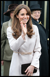 The Duchess of Cambridge leaving  the Senate House in Cambridge, Wednesday , 28th November 2012. .Photo by: Stephen Lock / i-Images