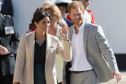© Licensed to London News Pictures. 03/10/2018. London, UK. Prince Harry, Duke of Sussex and Meghan, Duchess of Sussex visit Edes House, Chichester, Sussex. Photo credit: Ray Tang/LNP