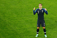 SAINT PETERSBURG, RUSSIA - JULY 10: Antoine Griezmann of France national team reacts during the 2018 FIFA World Cup Russia Semi Final match between France and Belgium at Saint Petersburg Stadium on July 10, 2018 in Saint Petersburg, Russia. MB Media