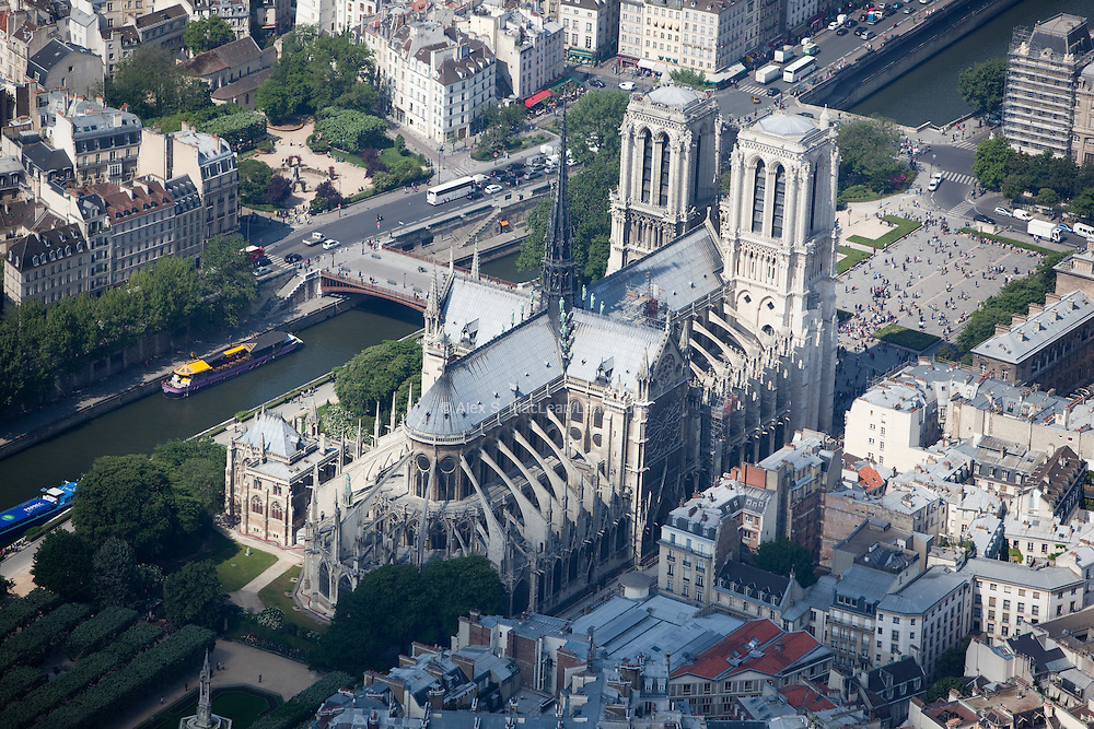 Notre-Dame de Paris is a historic Catholic cathedral on the eastern half of the Ile de la Cite in the fourth arrondissement of Paris and is considered to be one of the finest examples of French Gothic architecture.
