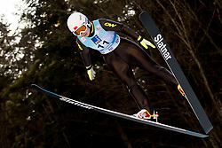 February 7, 2019 - Ljubno, Savinjska, Slovenia - Tong Ma of China competes on qualification day of the FIS Ski Jumping World Cup Ladies Ljubno on February 7, 2019 in Ljubno, Slovenia. (Credit Image: © Rok Rakun/Pacific Press via ZUMA Wire)