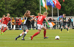 Action from the Uefa U16 game between the Republic of Ireland and Denmark at United park Westport.<br /> Pic Conor McKeown