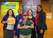 Piney Point Elementary School is recognized during the reveal of the 32 finalists in the Houston ISD NCAA Read to the Final Four, November 11, 2015.