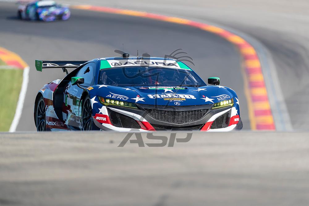 The HART Racing Acura NSX GT3 car practice for the Sahlen's Six Hours At The Glen at Watkins Glen International Raceway in Watkins Glen, New York.