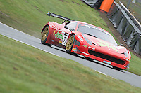 #21 Hector Lester/Benny Simonsen - Rosso Verde, Ferrari 458 Italia, PRO/AM during first practice for the Avon Tyers British GT Championship as part of the British GT Championship at Oulton Park, Little Budworth, Cheshire, United Kingdom. April 04 2015. World Copyright Peter Taylor/PSP. Copy of publication required for printed pictures.  Every used picture is fee-liable.http://archive.petertaylor-photographic.co.uk