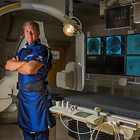 Cedars-Sinai Medical Center's Dr. Michael Alexander in Intervential Radiology, January 27, 2012. (Eric Reed/Cedars-Sinai Medical Center)