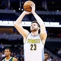 20 November 2016: Denver Nuggets center Jusuf Nurkic (23) is seen at the free throw line during the Denver Nuggets 105-91 victory over the Utah Jazz, at the Pepsi Center, Denver, Colorado, USA.