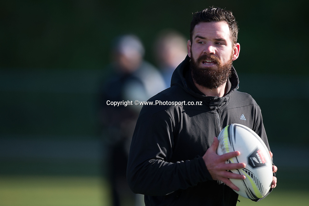 Ryan Crotty warms up with the team during an All Blacks training camp at Rugby Park in Wellington on the 26th of May 2014. Photo by Marty Melville/www.Photosport.co.nz