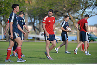 3 June 2013; Rob Kearney, British & Irish Lions, during squad training ahead of their game against Western Force on Wednesday. British & Irish Lions Tour 2013, Squad Training, Langley Park, Perth, Australia. Picture credit: Stephen McCarthy / SPORTSFILE