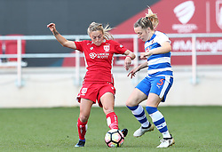 Megan Alexander of Bristol City Women battles for the ball with Harriet Scott of Reading Women - Mandatory by-line: Gary Day/JMP - 22/04/2017 - FOOTBALL - Ashton Gate - Bristol, England - Bristol City Women v Reading Women - FA Women's Super League 1 Spring Series