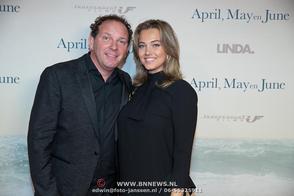 NLD/Amsterdam/20191217 - Premiere April, May en June, Robert Leroy en partner Jamie de Boer