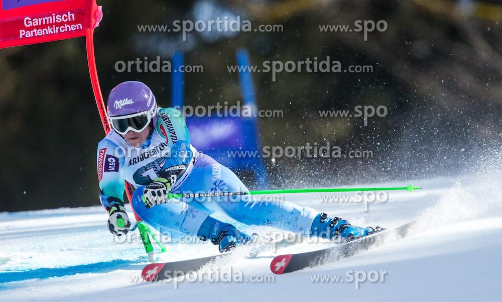 08.03.2015, Kandahar, Garmisch Partenkirchen, GER, FIS Weltcup Ski Alpin, Super G, Damen, im Bild Tina Maze (SLO, 2. Platz) // second Placed Tina Maze of Slovenia in action during the ladie's SuperG of the FIS Ski Alpine World Cup at the Kandahar course, Garmisch Partenkirchen, Germany on 2015/03/08. EXPA Pictures © 2015, PhotoCredit: EXPA/ Johann Groder