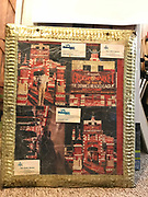 double sided decorated picture frame with gold tape 19x24in<br />