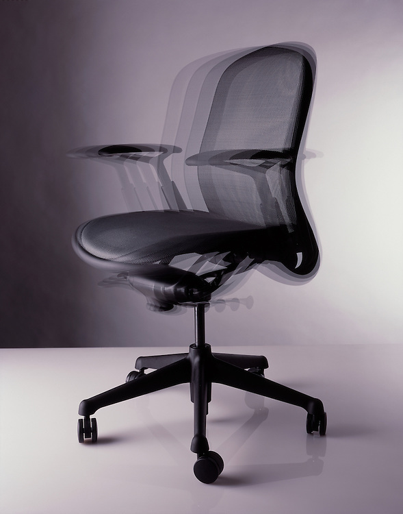 An office chair shaking and vibrating