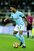 Raheem Sterling (#7) of Manchester City in action during the Premier League match between Newcastle United and Manchester City at St. James's Park, Newcastle, England on 27 December 2017. Photo by Craig Doyle.