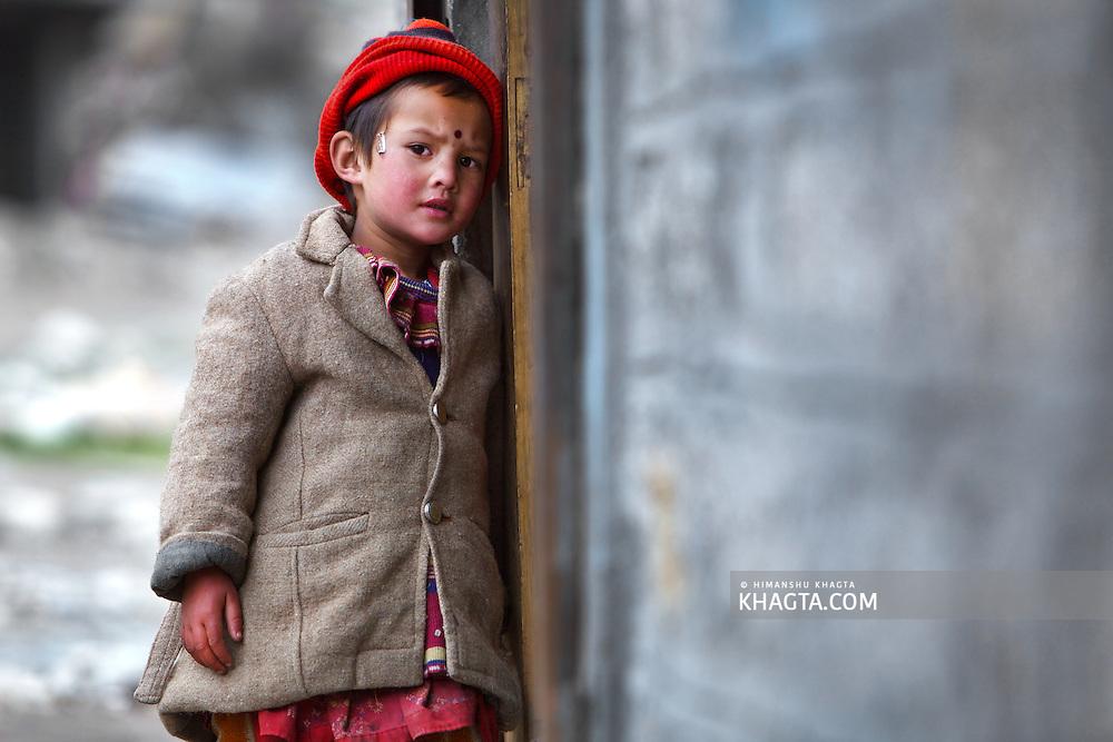 A cute girl from the Himalayan Village of Kinnaur