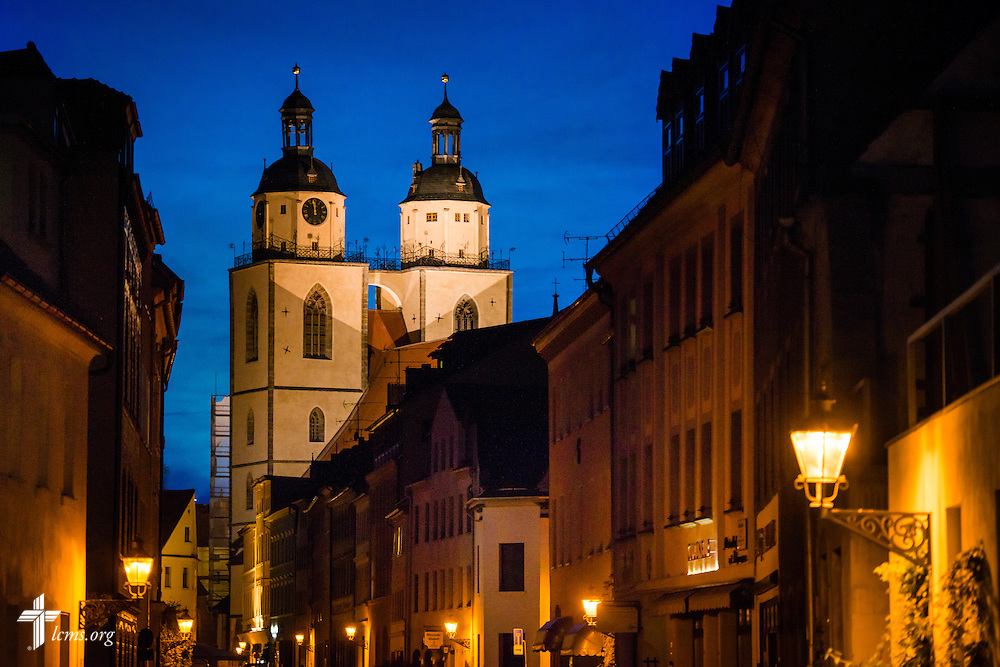 An exterior photograph of the Town and Parish Church of St. Mary's on Monday, May 4, 2015, in Wittenberg, Germany. LCMS Communications/Erik M. Lunsford
