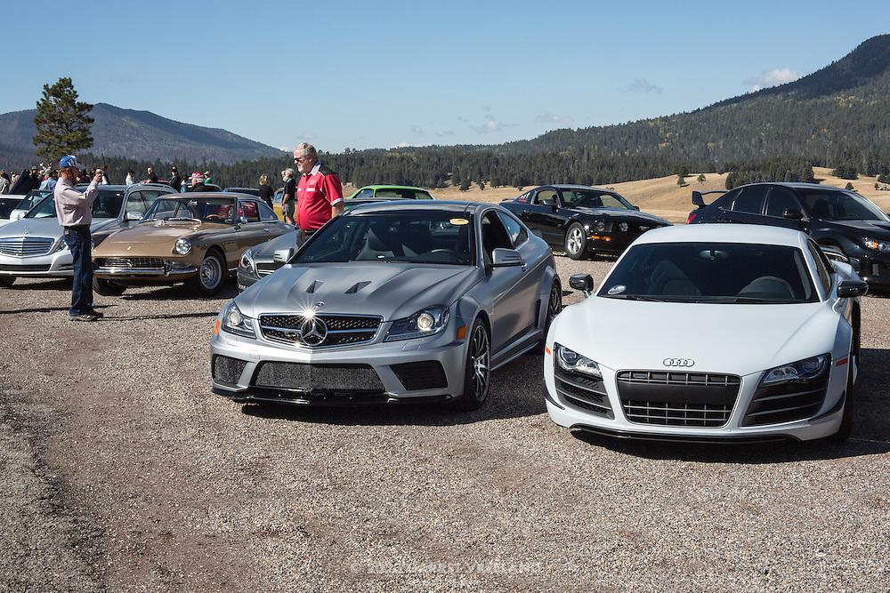 Nice spangle on the Mercedes. 2012 Santa Fe Concorso High Mountain Tour.