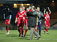 Photo: Paul Thomas.<br /> Port Vale v Bristol City. Coca Cola League 1. 17/12/2005.<br /> <br /> Bristol manager Gary Johnson thanks the away fans.