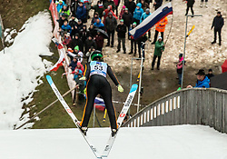 Nika Kriznar of Slovenia during Day 3 of World Cup Ski Jumping Ladies Ljubno 2019, on February 10, 2019 in Ljubno ob Savinji, Slovenia. Photo by Matic Ritonja / Sportida