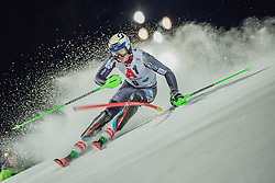"29.01.2019, Planai, Schladming, AUT, FIS Weltcup Ski Alpin, Slalom, Herren, 1. Lauf, im Bild Henrik Kristoffersen (NOR) // Henrik Kristoffersen of Norway in action during his 1st run of men's Slalom ""the Nightrace"" of FIS ski alpine world cup at the Planai in Schladming, Austria on 2019/01/29. EXPA Pictures © 2019, PhotoCredit: EXPA/ Dominik Angerer"