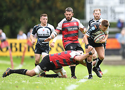 Pontypridd's Lloyd Rowlands<br /> Cross Keys v Pontypridd RFC<br /> <br /> Photographer Mike Jones / Replay Images<br /> Pandy Park, Cross Keys.<br /> Wales - 12th May 2018.<br /> <br /> Cross Keys v Pontypridd RFC<br /> Principality Premiership<br /> <br /> World Copyright © Replay Images . All rights reserved. info@replayimages.co.uk - http://replayimages.co.uk