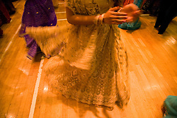 Women dancing during the celebration of Navratri; the Hindu festival of Nine Nights,