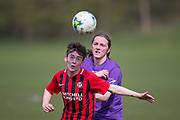 Fintry (red and black) v FC Spartak (purple) in the Dundee Saturday Morning Football League at Drumgeith, Dundee, <br /> <br />  - © David Young - www.davidyoungphoto.co.uk - email: davidyoungphoto@gmail.com