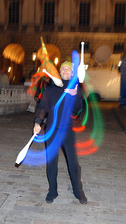 JUGGLERS at a party to celebrate the opening of the annual Somerset House Ice Rink at Somerset House, London on 23rd November 2005.<br /><br />NON EXCLUSIVE - WORLD RIGHTS