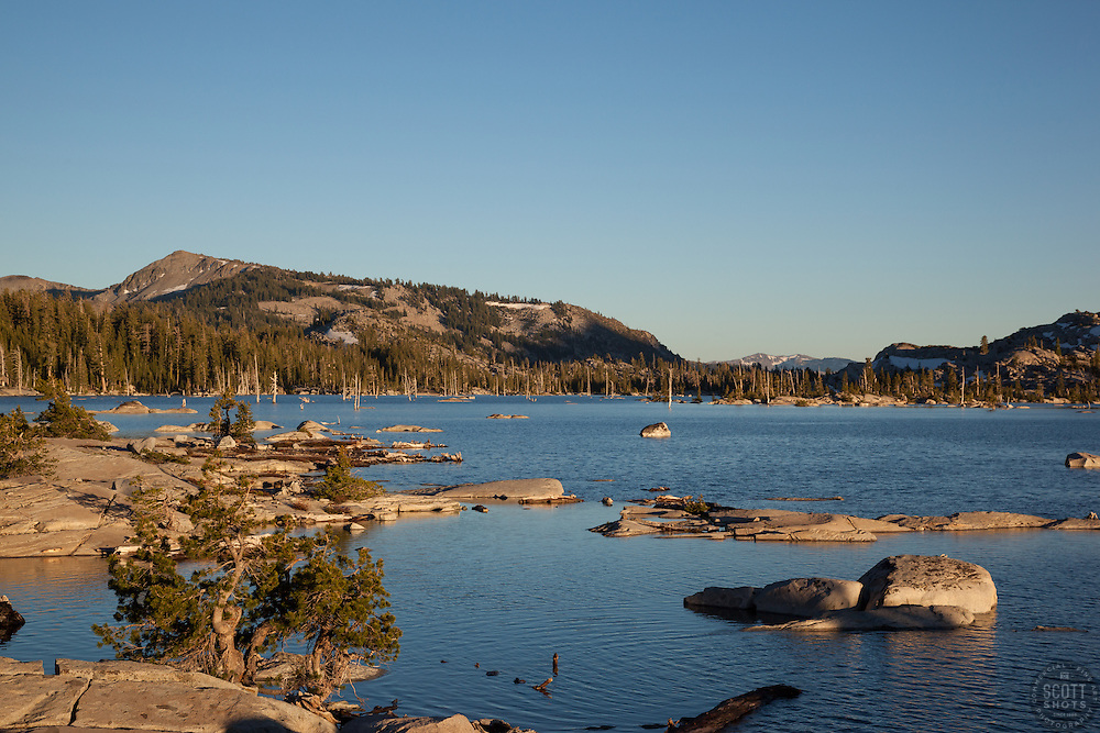 """""""Lake Aloha 1"""" - Photograph taken in the late afternoon of Lake Aloha in the Tahoe Desolation Wilderness."""
