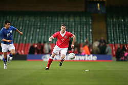 CARDIFF, WALES - WEDNESDAY, MARCH 1st, 2006: Wales' Rob Edwards during the International Friendly match against Paraguay at the Millennium Stadium. (Pic by Dan Istitenel/Propaganda)
