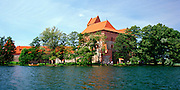 Lakeside view of Trakai Castle
