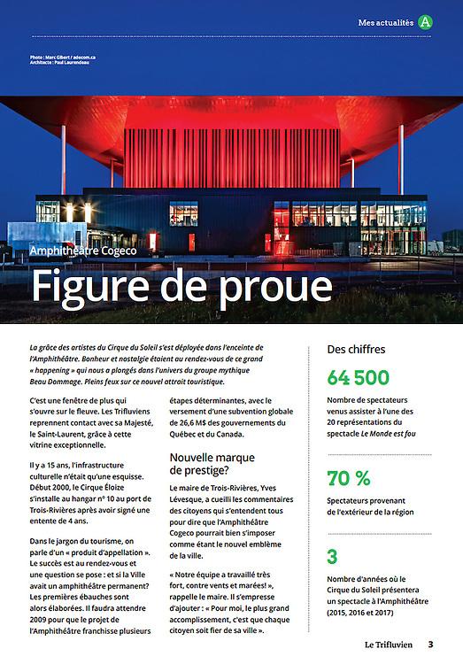 L'Amphithéâtre de Trois-Rivières - Architecte concepteur : Paul Laurendeau - Photographie © Marc Gibert / adecom.ca