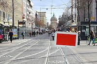 Mannheim. 01.03.17 | BILD- ID 068 |<br /> Innenstadt. Plankenumbau. Auswirkungen auf den Stra&szlig;enbahnverkehr. <br /> Bild: Markus Prosswitz 01MAR17 / masterpress (Bild ist honorarpflichtig - No Model Release!)