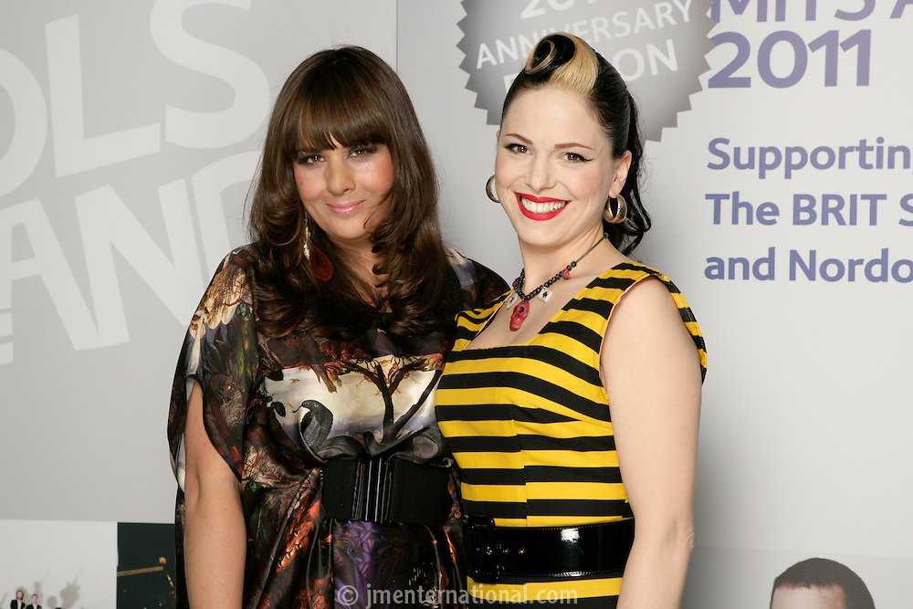 Rumer and Imelda May, the 2011 MITs Award. Held at the Grosvenor Hotel London in aid of Nordoff Robbins and the BRIT School. Monday, Nov.7, 2011