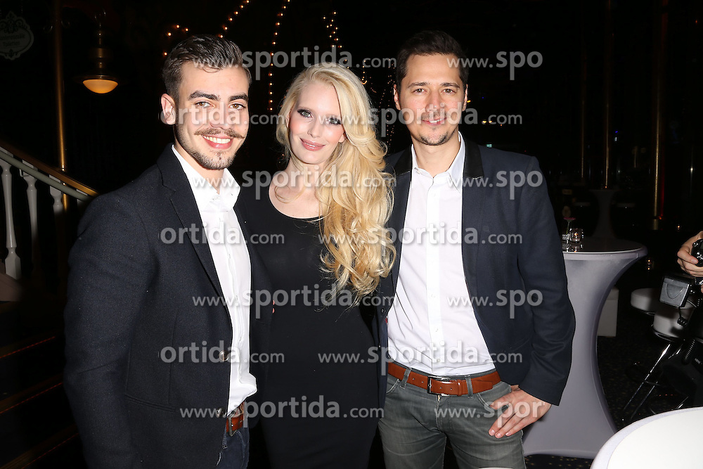 28.02.2015, Europapark Dom, Rust, GER, Miss Germany Wahl 2015, im Bild Florian Wuensche, Mirja du Mont (Schauspielerin), Jens Hartwig // during the election to Miss Germany 2015 at the Europapark Dom in Rust, Germany on 2015/02/28. EXPA Pictures © 2015, PhotoCredit: EXPA/ Eibner-Pressefoto/ BW-Foto<br /> <br /> *****ATTENTION - OUT of GER*****