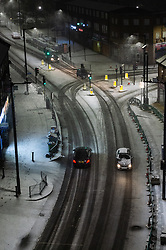 © Licensed to London News Pictures. 31/01/2019. London, UK. Cars on the snow covered streets of Wembley. Photo credit: Ray Tang/LNP