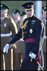 HRH The Duke of Cambridge visit's the 1st Battalion Irish Guards at Mons Barracks, Aldershot, United Kingdom.To present Operational Service Medals for service in Afghanistan to No2 Company of the 1st Battalion Irish Guards, Friday, 6th December 2013. Picture by Andrew Parsons / i-Images