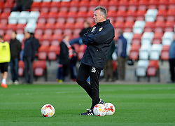 Crewe Alexandra manager Steve Davis looks on- Mandatory by-line: Nizaam Jones/JMP - 05/11/2016 - FOOTBALL - LCI Rail Stadium - Cheltenham, England - Cheltenham Town v Crewe Alexandra - Emirates FA Cup first round