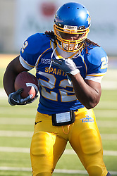 October 10, 2009; San Jose, CA, USA;  San Jose State Spartans running back Lamon Muldrow (22) before the game against the Idaho Vandals at Spartan Stadium.  Idaho won 29-25.