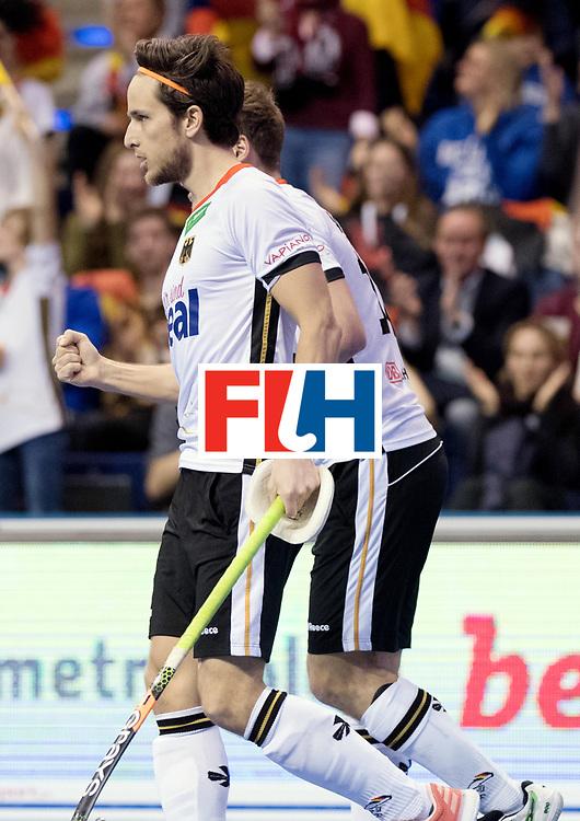 BERLIN - Indoor Hockey World Cup<br /> Quarterfinal 3: Germany - Switzerland<br /> foto: Marco Miltkau.<br /> WORLDSPORTPICS COPYRIGHT FRANK UIJLENBROEK