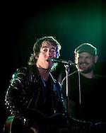 Tom Higgenson lead singer of the Plain White T's and Mike Retondo in concert in Yokosuka Japan