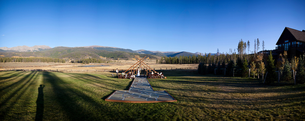 SHOT 9/30/10 6:52:50 PM - Marc Piscotty and Margaret Ebeling wedding week at Devil's Thumb Ranch in Tabernash, Co..(Photo by Trevor Brown / © 2010)