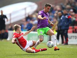 Joe Bryan of Bristol City takes on Brad Potts of Barnsley - Mandatory by-line: Robbie Stephenson/JMP - 30/03/2018 - FOOTBALL - Oakwell Stadium - Barnsley, England - Barnsley v Bristol City - Sky Bet Championship