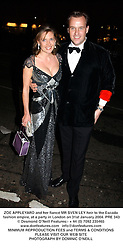 ZOE APPLEYARD and her fiancé MR SVEN LEY heir to the Escada fashion empire, at a party in London on 31st January 2004.PRE 343