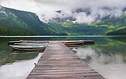 Cameron Lake at Waterton Lakes National Park in Alberta Canada