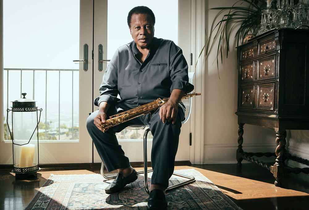 LOS ANGELES, CA - SEPTEMBER 5, 2013 - American jazz saxophonist and composer Wayne Shorter, 80, poses at his home on April 22, 2013, in Los Angeles, California. Shorter will be performing at the NSO Pops for the Thelonious Monk Institute of Jazz Competition and Gala. (Photo by Bret Hartman/For The Washington Post)