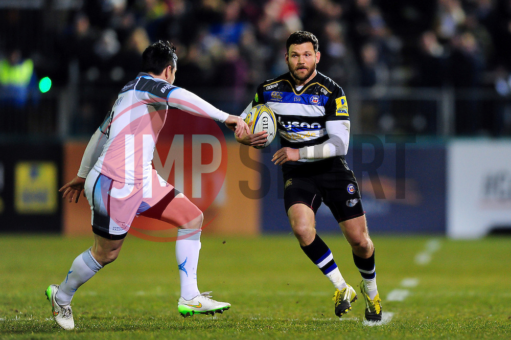Jeff Williams of Bath Rugby in possession - Mandatory byline: Patrick Khachfe/JMP - 07966 386802 - 18/03/2016 - RUGBY UNION - The Recreation Ground - Bath, England - Bath Rugby v Newcastle Falcons - Aviva Premiership.